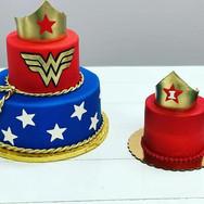 Wonder Woman 1st Birthday Cake