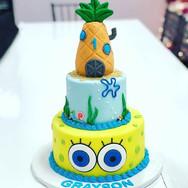 Spongebob Tiered Birthday Cake