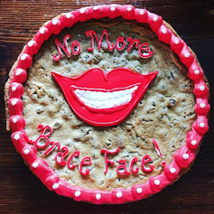 No More Brace Face Cookie Cake