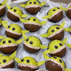 Baby Yoda Cocoa Bombs