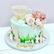 Tea Cup 1st Birthday Cake