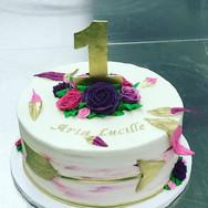 Wild One Gold 1st Birthday Cake
