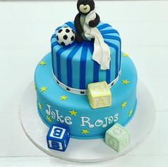 Blue Bear Baby Shower Cakes