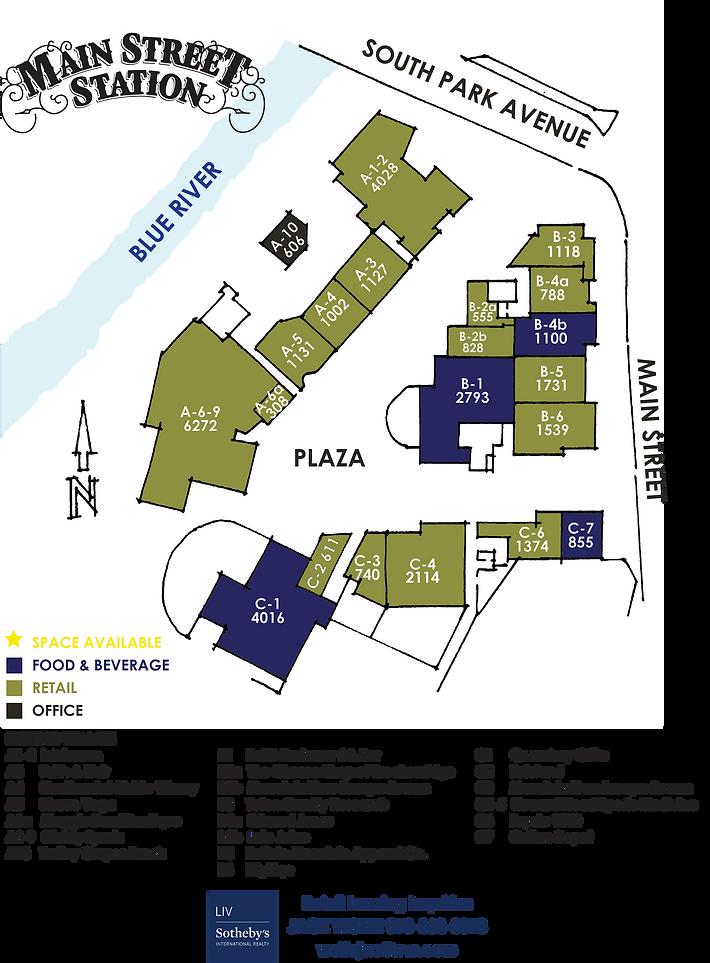 Main Street Station Shopping Center Leasing Map