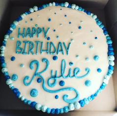 Iced Birthday Cookie Cake