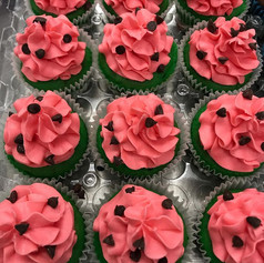 Watermelon Theme Cupcakes