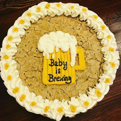 Baby is Brewing Cookie Cake