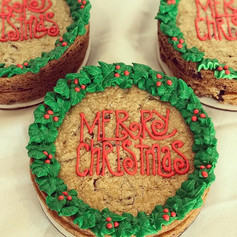 Double Lay Christmas Cookie Cake
