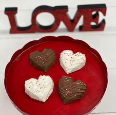 Chocolate Covered Oreos Hearts