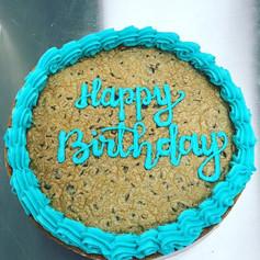 Turquoise Birthday Cookie Cake