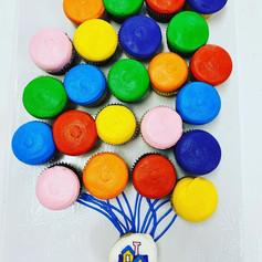 Up Balloon Cupcakes