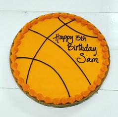 Basketball Birthday Cookie Cake