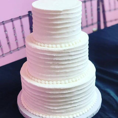 3 Tier Textured Buttercream Wedding Cake