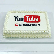 YouTube Theme Birthday Sheet Cake