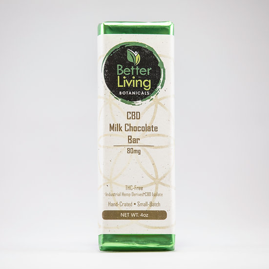CBD Milk Chocolate Bars .4oz