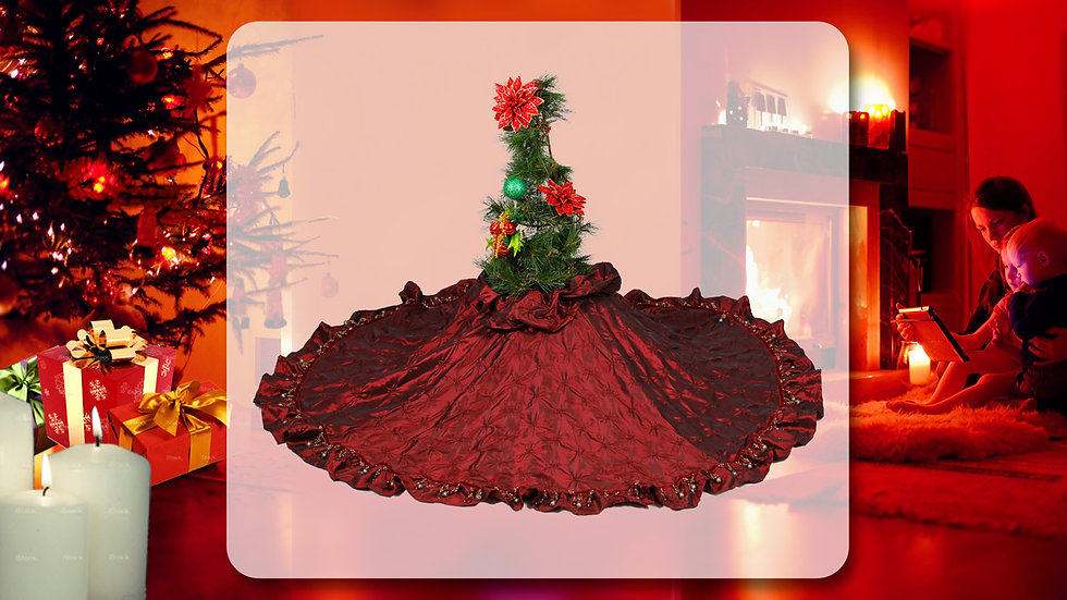 Tis the Night Before Christmas - Raspberry - SOLD