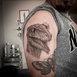 Velociaptor tattoo