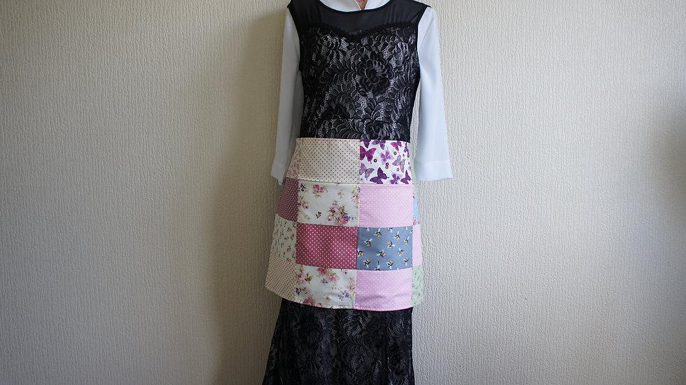Patchwork-Half apron-Craft apron-Teachers apron-Apron-with-pocket