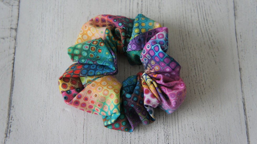 Bright and colourful 100% cotton scrunchie Create-England