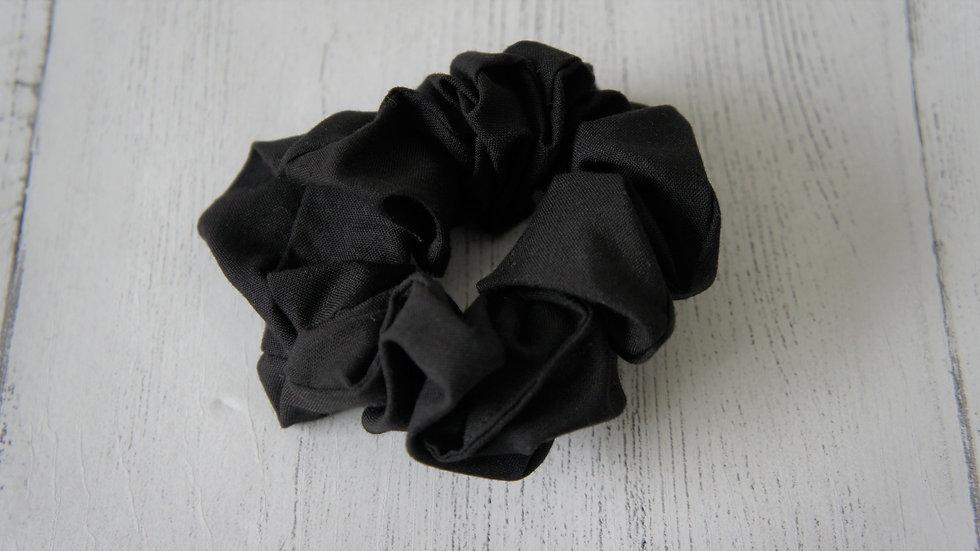 Black polyester cotton mix scrunchie Create-England