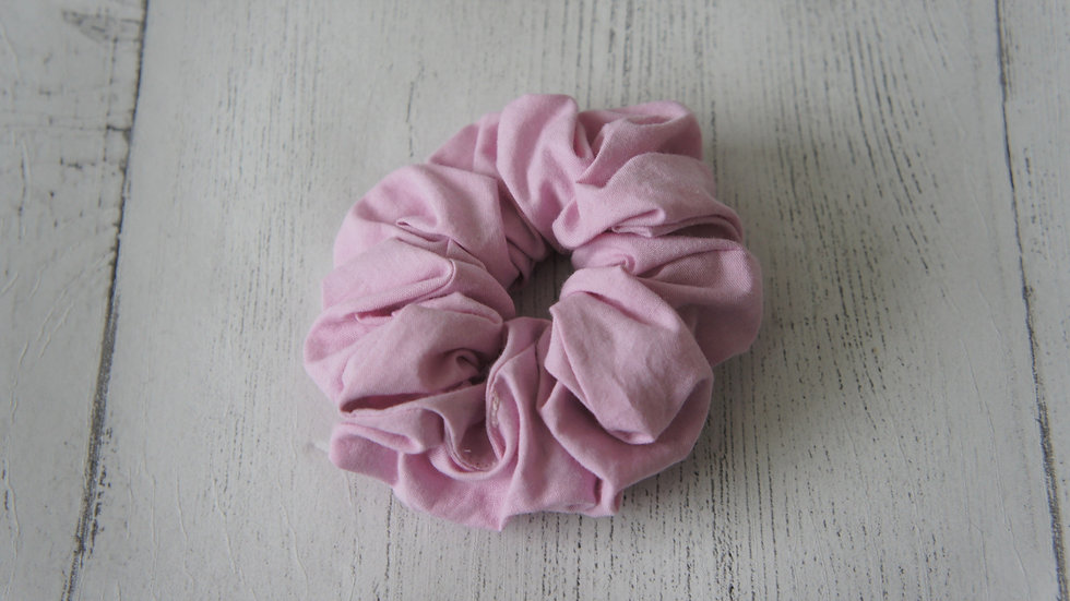 Pink polyester cotton mix scrunchie Create-England