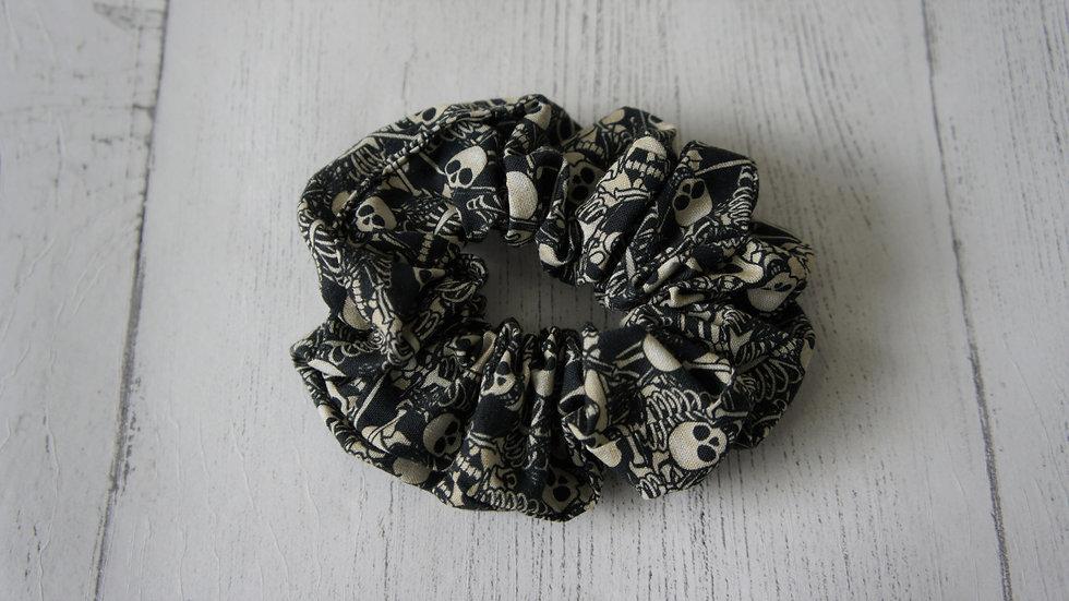 Skeletons print fun 100% cotton scrunchie Create-England