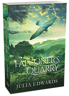 The Falconer's Quarry Unlucky for Some Scar Gatherer series history time travel tales twist bite Julia Edwards books independent author writing workshops schools kids children teach VIPERS comprehension Key Stage 2 Two