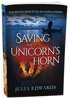 Saving the Unicorn's Horn Unlucky for Some Scar Gatherer series history time travel tales twist bite Julia Edwards books independent author writing workshops schools kids children teach VIPERS comprehension Key Stage 2 Two