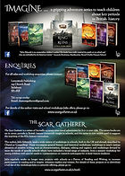 Scar Gatherer e-flyer. Unlucky for Some Scar Gatherer series history time travel tales twist bite Julia Edwards books independent author writing workshops schools kids children teach VIPERS comprehension Key Stage 2 Two
