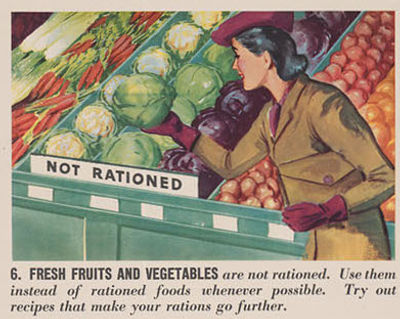 Ration book information vegetables