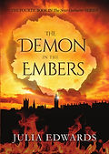 The Demon in the Embers Unlucky for Some Scar Gatherer series history time travel tales twist bite Julia Edwards books independent author writing workshops schools kids children teach VIPERS comprehension Key Stage 2 Two