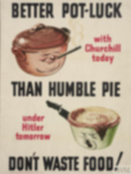 Churchill, Hitler, food, waste, propaganda, campaign