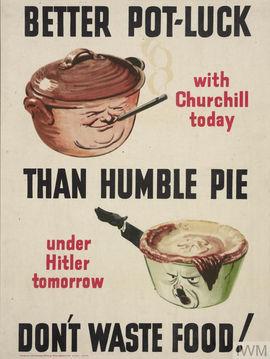 Churchill, Hitler, food, waste, propaganda, campaign