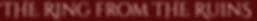 scar gatherer series time travel children adventure fiction history ring ruins shimmer glass slaves isabella demon embers falconer's quarry saving unicorn's horn leopard golden cage Julia Edwards Ruins title