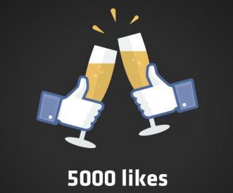 5000 Likes no Facebook