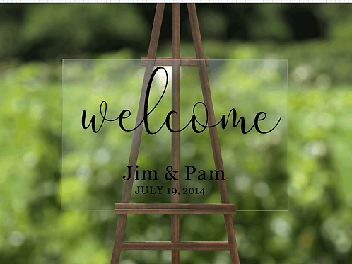 Personalizable Wedding Welcome Sign
