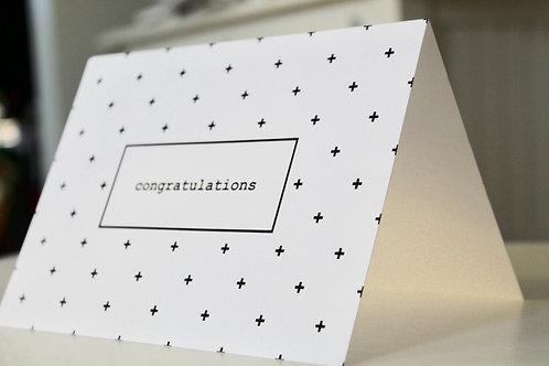 Swiss Dot Congratulations - Pack of 5