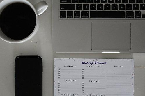 Weekly Planner Deskpad - Constellations