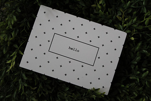 Swiss Dot Hello - Pack of 5