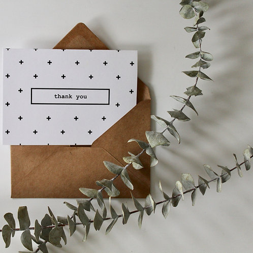 Swiss Dot Thank You - Pack of 10