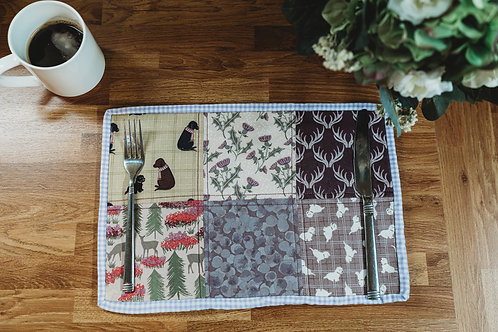 Madeline – Set of Four Quilted Patchwork Placemats