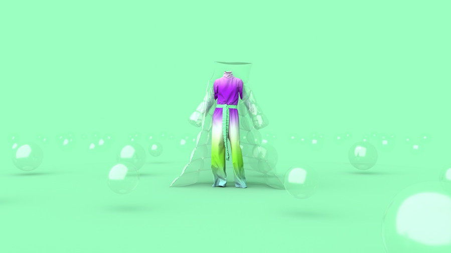 Still from the Fashion Meditation series