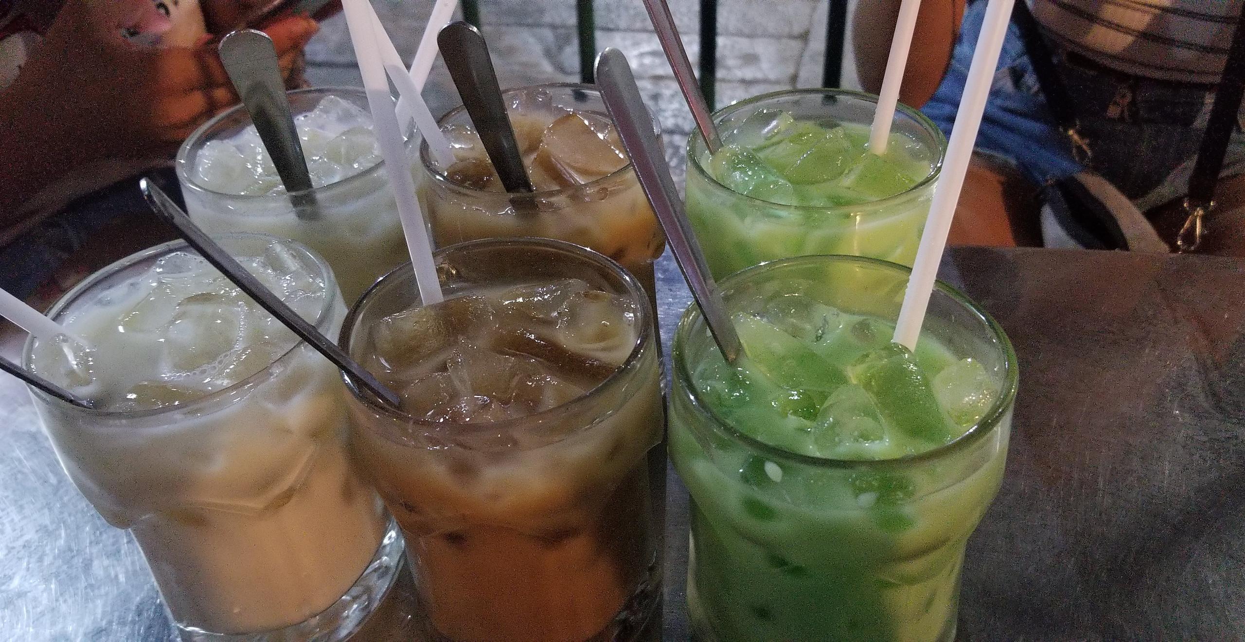 Left to right: Soy/Rice milk, Peanut/Rice milk, Mint/Rice milk