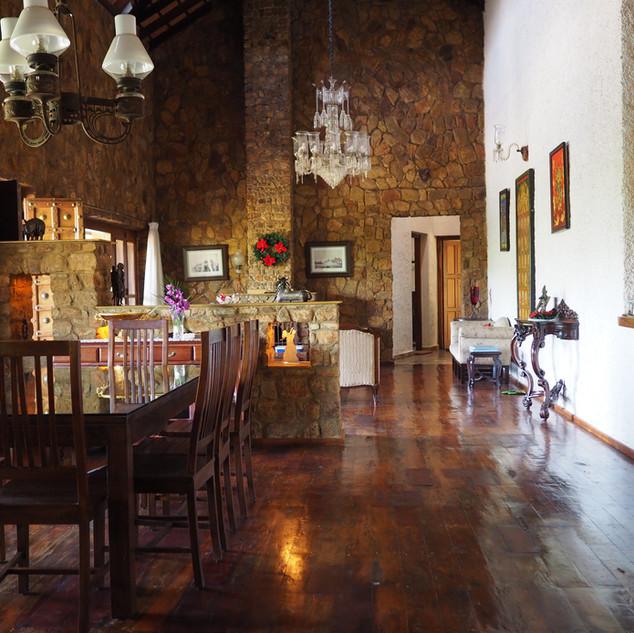 Inside Bungalow - Dinning & Living