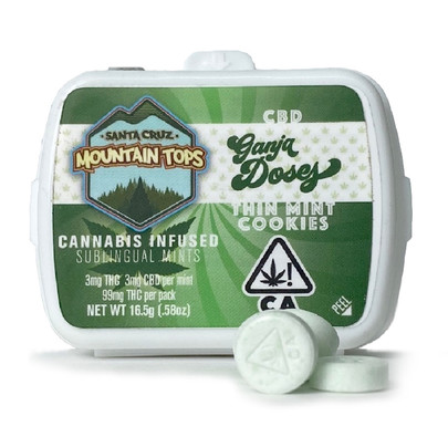 Thin Mint Cookies sublingual mints [1:1] with CBD