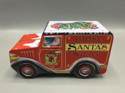 Weihnachtsdose Santas Lieferwagen