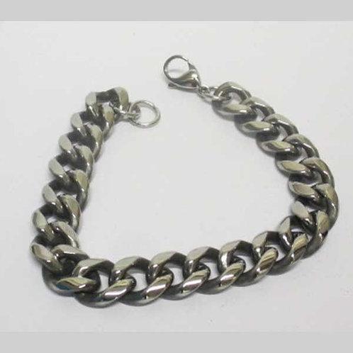 Bracelet maille cubaine sans cristal.