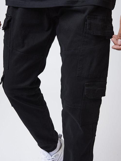 Pantalon basic toile style cargo