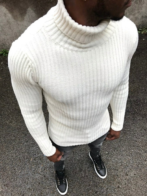 Col roulé Blanc