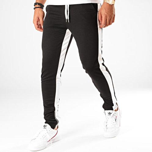 Pantalon Jogging A Bandes 65 Noir Blanc